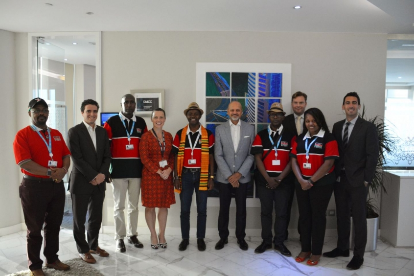 DMCC hosts Government of Kenya officials at its Almas Tower HQ